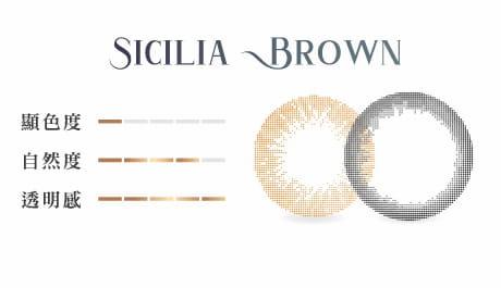 西西里棕顏色組成